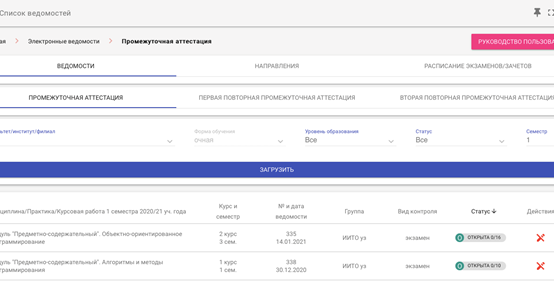 Модификация web-сервиса «Электронные ведомости»